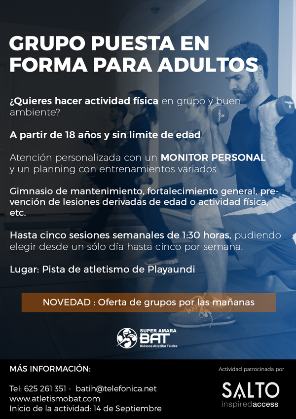 Cartel grupo fitness adultos web